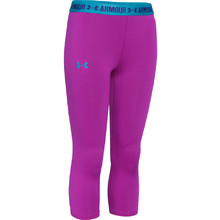 Dívčí legíny Under Armour Armour Capri - Medium Red Violet/Pacific Blue/Jacksons Purple