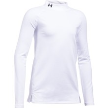 Dívčí triko Under Armour ColdGear Mock - White/White/Black