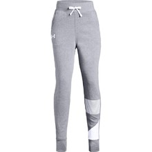 Dívčí tepláky Under Armour Rival Jogger - Steel Light Heather/White