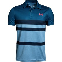 Chlapecké triko Under Armour Tour Tips Engineered Polo - Petrol Blue