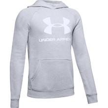 Chlapecká mikina Under Armour Rival Logo Hoodie - Mod Gray Light Heather