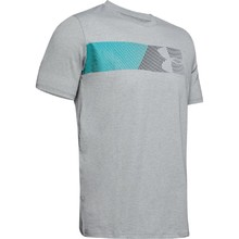 Pánské triko Under Armour Fast Left Chest 2.0 SS - Steel Light Heather