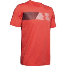 Pánské triko Under Armour Fast Left Chest 2.0 SS - Martian Red