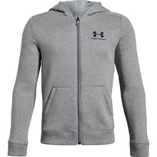 Chlapecká mikina Under Armour Cotton Fleece Full Zip - Steel Light Heather