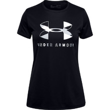 Dívčí triko Under Armour Tech Graphic Big Logo SS T-Shirt - Black