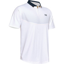 Pánské triko Under Armour Iso-Chill Graphic Polo - White