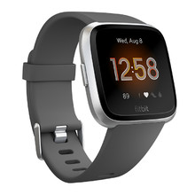 Pulzmeter Fitbit Versa Lite Charcoal/Silver Aluminum