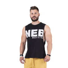 Pánské tílko Nebbia Back to the Hardcore tank top 144 - Black