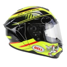 Moto helma BELL Star Isle Of Man black-yellow - černo-žlutá