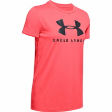 Dámské triko Under Armour Graphic Sportstyle Classic Crew - Rush Red