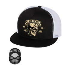 Snapback BLACK HEART Devil Skull Trucker
