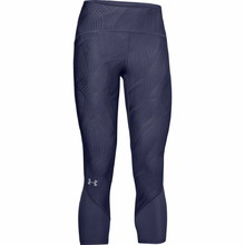 Dámské kompresní 3/4 legíny Under Armour W Fly Fast Jacquard Crop - Blue Ink