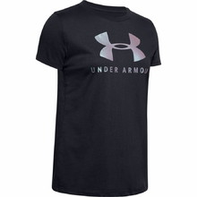 Dámské triko Under Armour Graphic Sportstyle Classic Crew - Black-Chrome