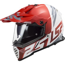Moto přilba LS2 MX436 Pioneer Evo - Evolve Red White