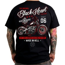 Triko BLACK HEART Red Chopper