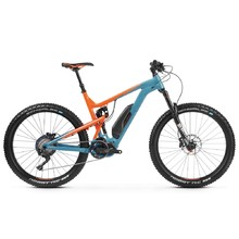 "Celoodpružené elektrokolo Kross Soil Boost 2.0 SE 27,5"" - model 2019 - Blue / Orange Glossy"