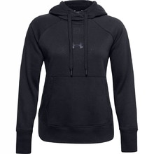 Dámská mikina Under Armour Rival Fleece Metallic Hoodie - Black
