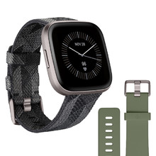 Pulzmeter Fitbit Fitbit Versa 2 Special Edition Smoke Woven