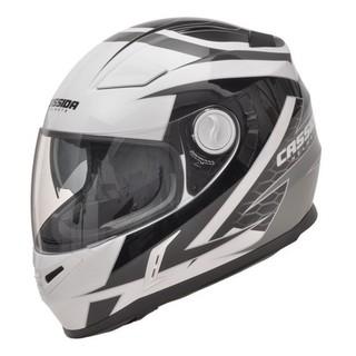 Moto helma Cassida Evo černo-bílá - XXL (63-64)