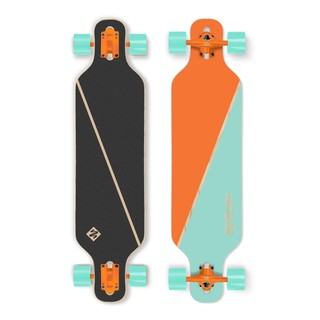 "Longboard Street Surfing Freeride - Nordic Orange 39"" ABEC 9"