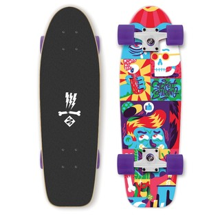 Mini longboard Street Surfing Kicktail Comics 28""