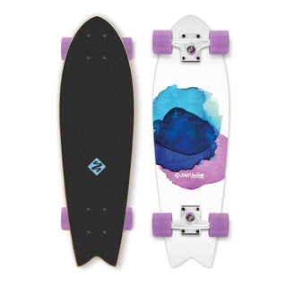 Mini longboard Street Surfing Fishtail - Jelly Fish 30""