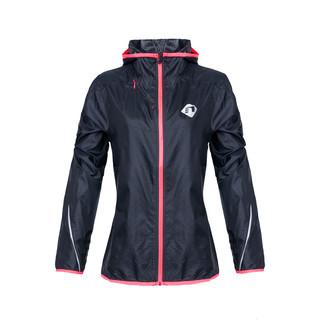 Dámská běžecká bunda Newline Imotion Hood Print s kapucí tmavě modrá - XS
