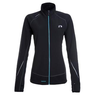 Dámská běžecká bunda Newline Iconic Warmtack černo-tyrkysová - L
