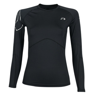 Dámské kompresní termo triko Newline Iconic Compression Thermal LS Shirt - dlouhý rukáv černá - XL