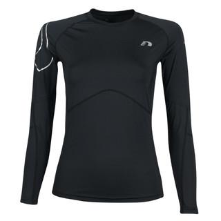 Pánské kompresní termo triko Newline Iconic Compression Thermal LS Shirt - dlouhý rukáv černá - XXL