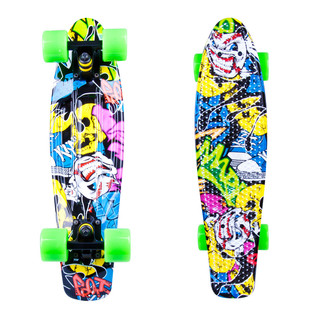 "Penny board WORKER Colory 22"" žluto-zelená"