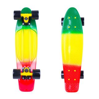 """Penny board WORKER Sunbow 22"""" zeleno-žluto-červená"""
