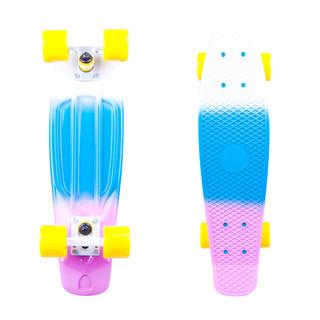 "Penny board WORKER Sunbow 22"" fialovo-modro-bílá"