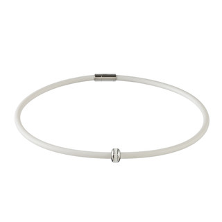 Magnetický náhrdelník inSPORTline Mely bílá - 52 cm
