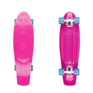 "Penny board Big Fish 27"" Pink-White-Blue"