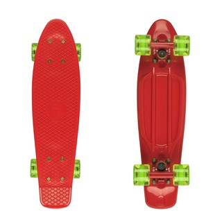 "Penny board Fish Classic 22"" Red-Red-Transparent Green"
