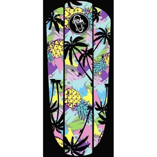 "Nálepka na penny board Fish Classic 22"" Black Hawaii"