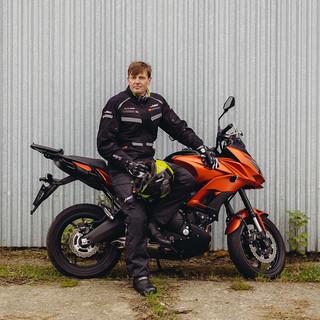 Pánské moto kalhoty W-TEC GS-1614 - černá