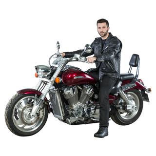 Kožená moto bunda W-TEC Perfectis - černá