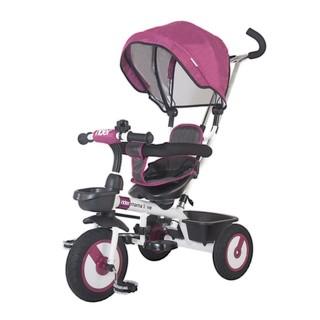Dětská tříkolka s vodící tyčí MamaLove Rider fialová