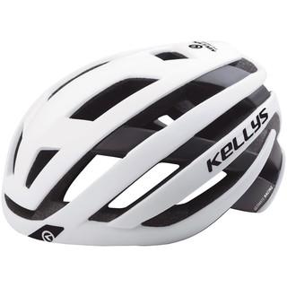 Cyklo přilba Kellys Result white matt - M/L (58-62)