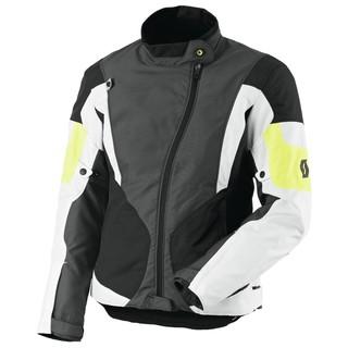 Dámská moto bunda SCOTT Technit DP šedo-žlutá - XL (40)