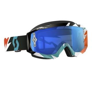 Moto brýle SCOTT Hustle MXVI cracked orange-turquoise-electric blue chrome