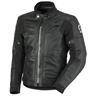 Kožená moto bunda SCOTT Tourance Leather DP černá - M (46-48)