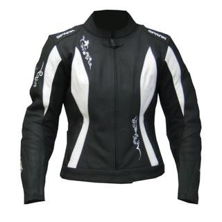 Dámská moto bunda Spark Jane černo-bílá - XXL