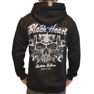 Mikina BLACK HEART Trigger Zip černá - XXL