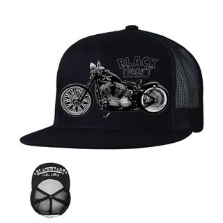 Kšiltovka BLACK HEART Bastard Bobber Trucker černá