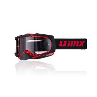 Motokrosové brýle iMX Dust Graphic Red-Black Matt