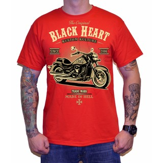 Triko BLACK HEART Harley Red červená - XL