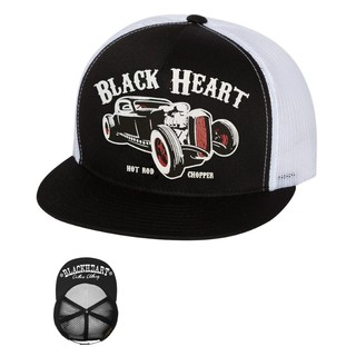 Kšiltovka BLACK HEART Rat Rod Trucker bílá